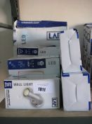 Quantity of various LAP security lights, wall lights and uplighters