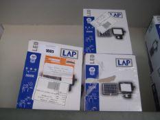 4 600 lumen 800w LAP solar powered floodlights