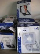 Quantity of various wattage LAP LED security lights