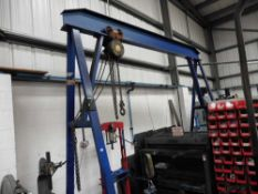 A Frame Mobile Gantry with a Felco 2 tonne travelling chain hoist