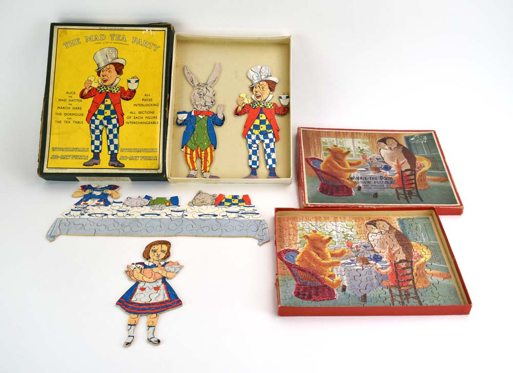 An Alice in Wonderland The Mad Hatter Party interchangeable jigsaw by J. Salmon Ltd.