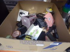 3020 - Box containing various cosmetics and make up including revolution, bare minerals etc.