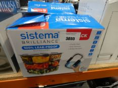 2 Sistema leak proof food storage container sets