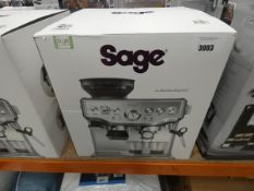 (62) Boxed Sage Barista coffee machine