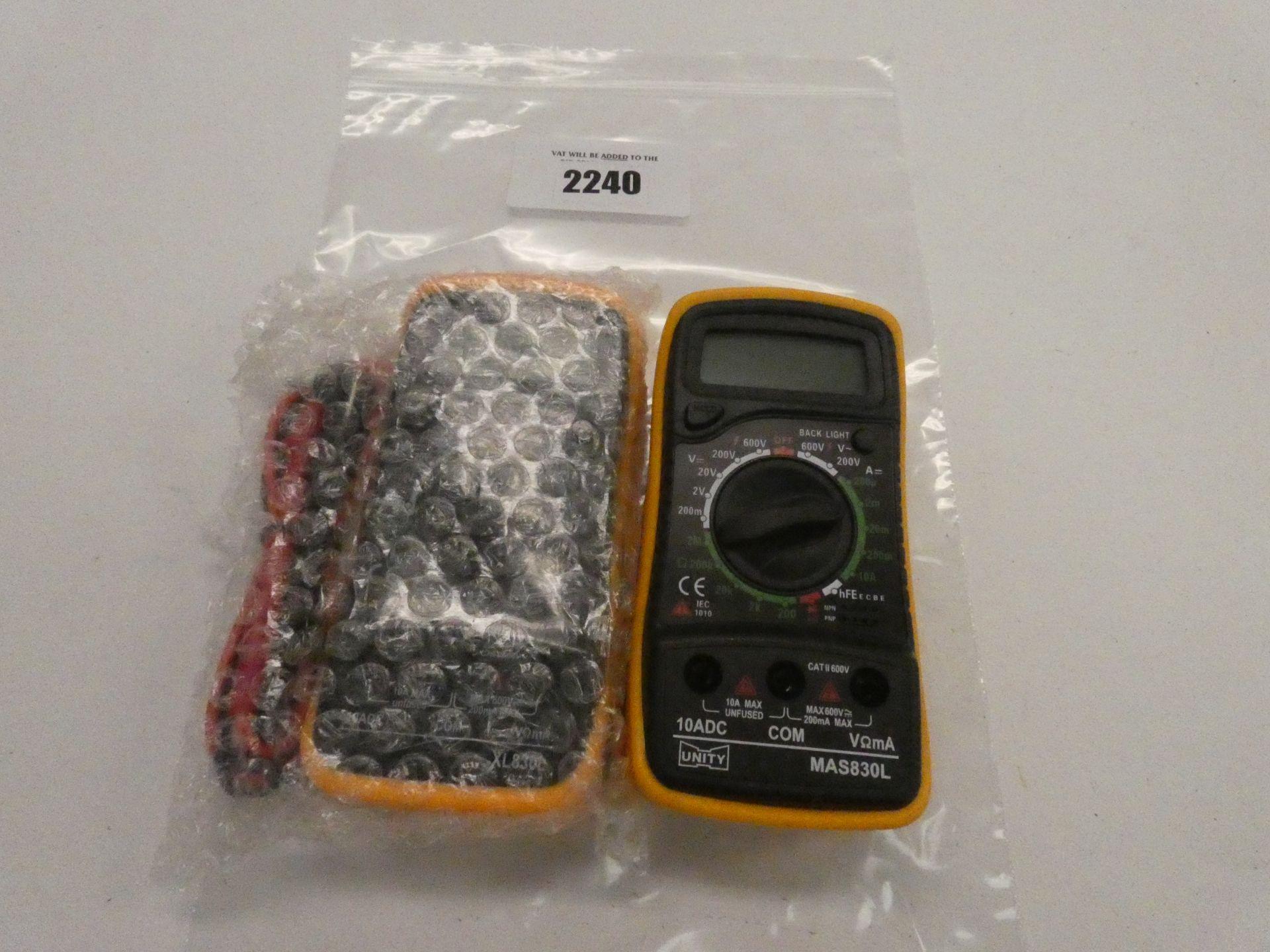 Lot 2240 - 2x Multimeters