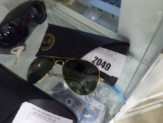 Pair of Rayban sunglasses with hard carry case