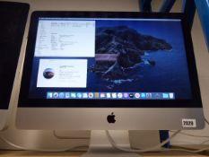 2129 (123) Apple iMac 21.5'' 2017 model iMac, core i5 cpu, 8gb ram, 1 tb hdd, (no mouse//no keyboard
