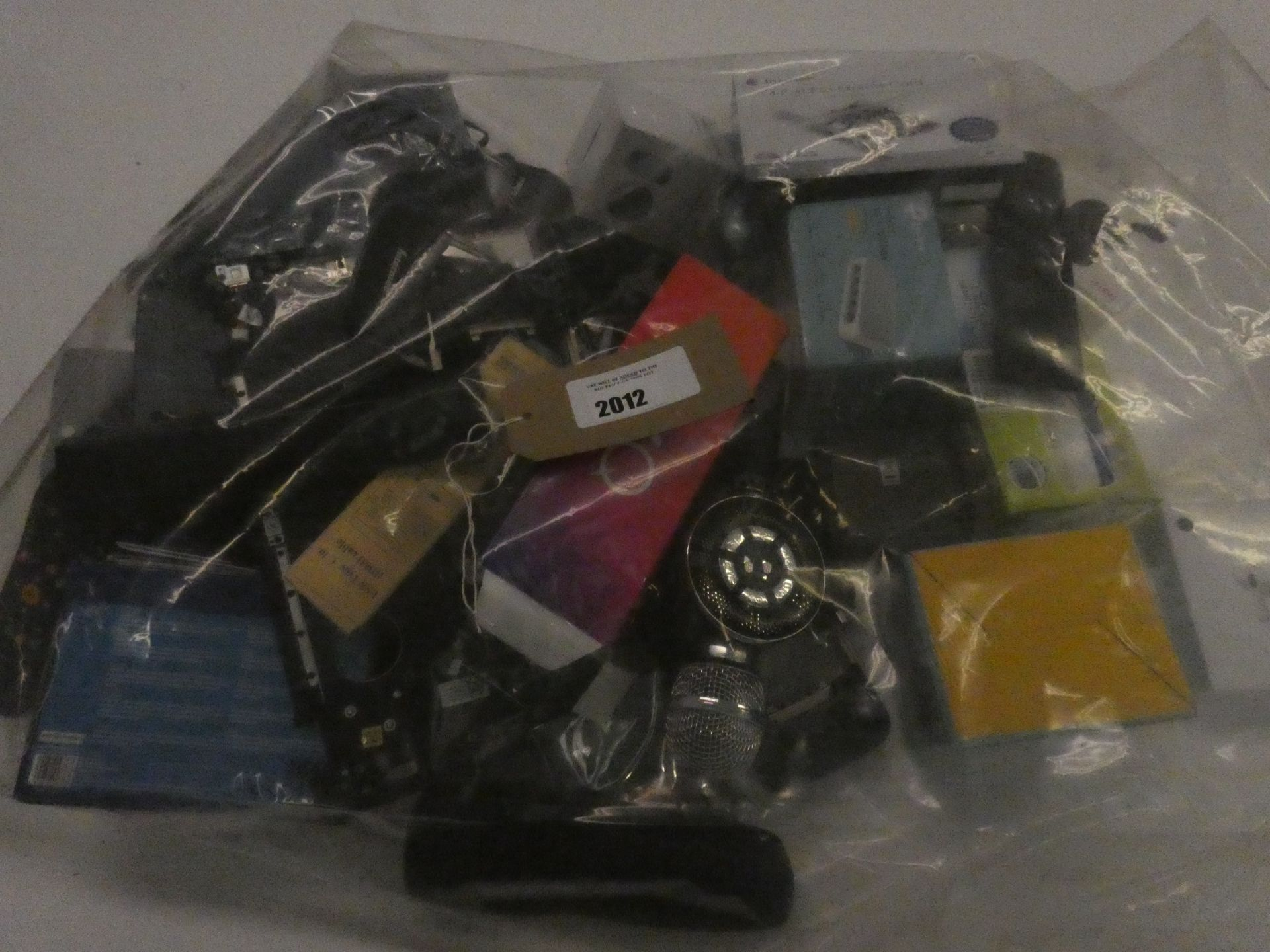 Lot 2012 - Bag containing quantity of various devices and electrical accessories