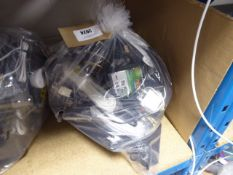 Bag containing various IT and electrical sundries inc, EE router, headphones, network cabling and