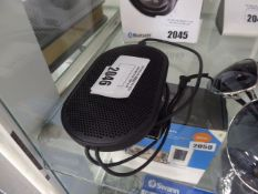 B&O P2 portable speaker with cable