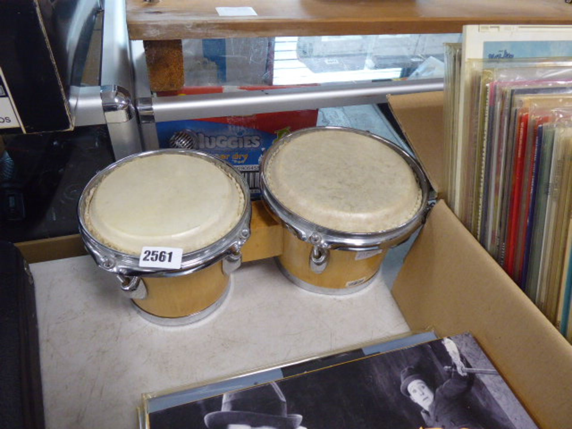 Lot 2561 - Pair of hand drums