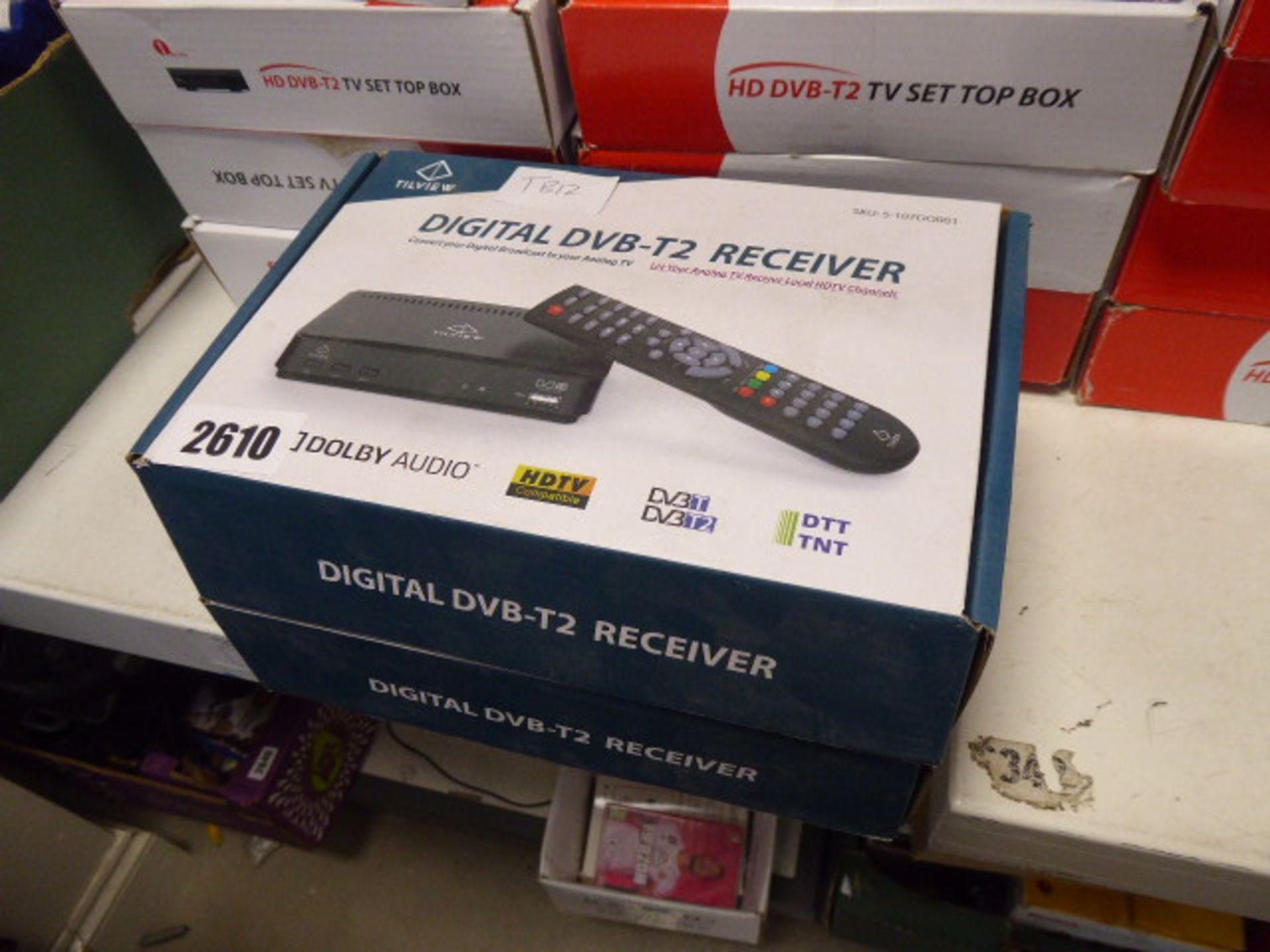 Lot 2610 - Digital DVDT2 receiver in box x2