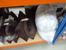 3021 2 brown cushions and 2 pillows