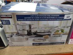 Kirkland stainless steel cookware set