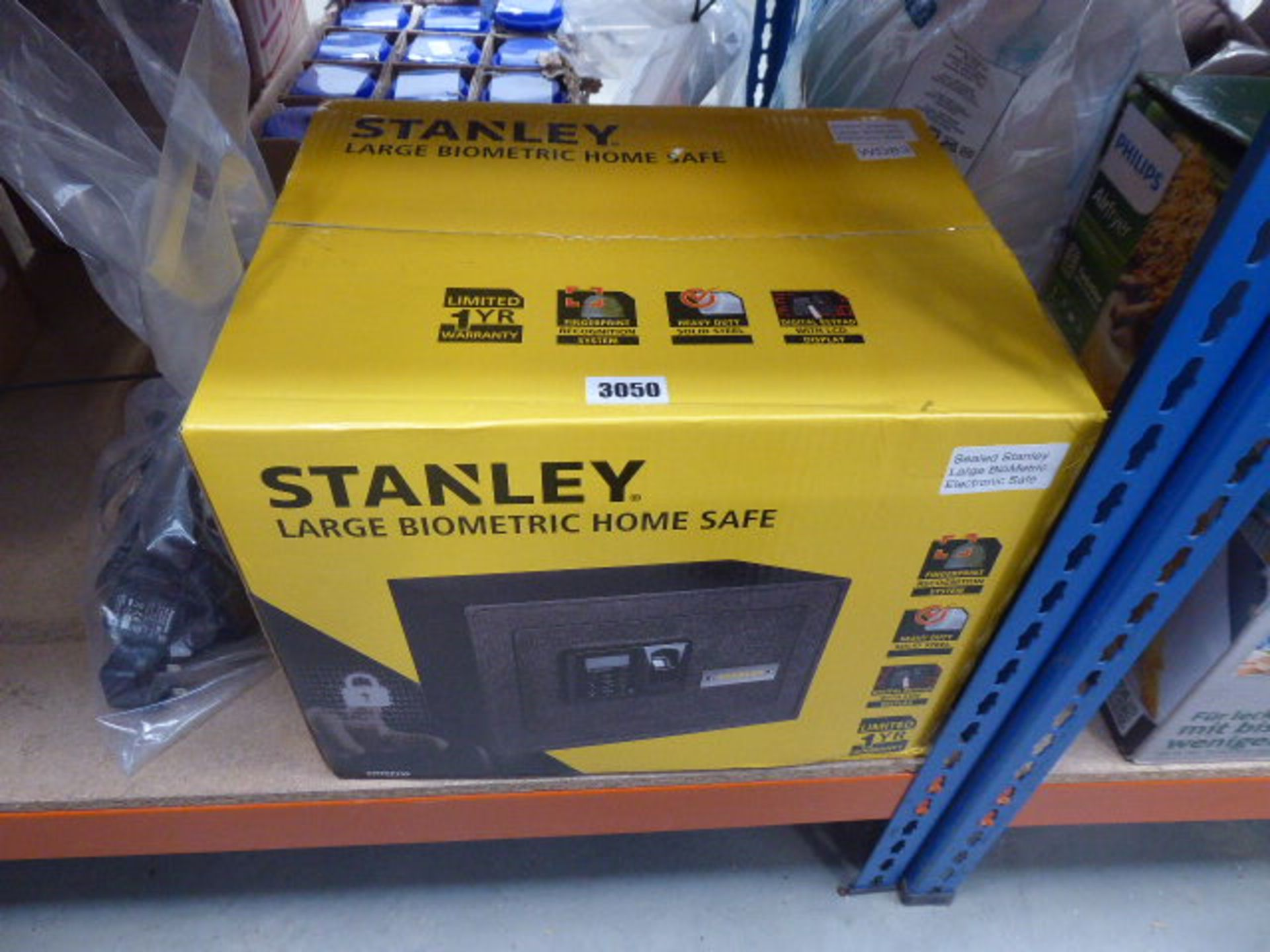 Lot 3050 - Stanley large biometric electronic safe