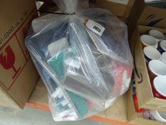 Bag containing Pukka pads, gluesticks, sun readers etc
