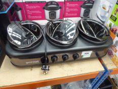 (70) Unboxed Gourmet 7.1L triple slow cooker