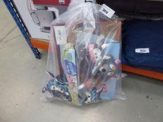 Bag containing dog toys