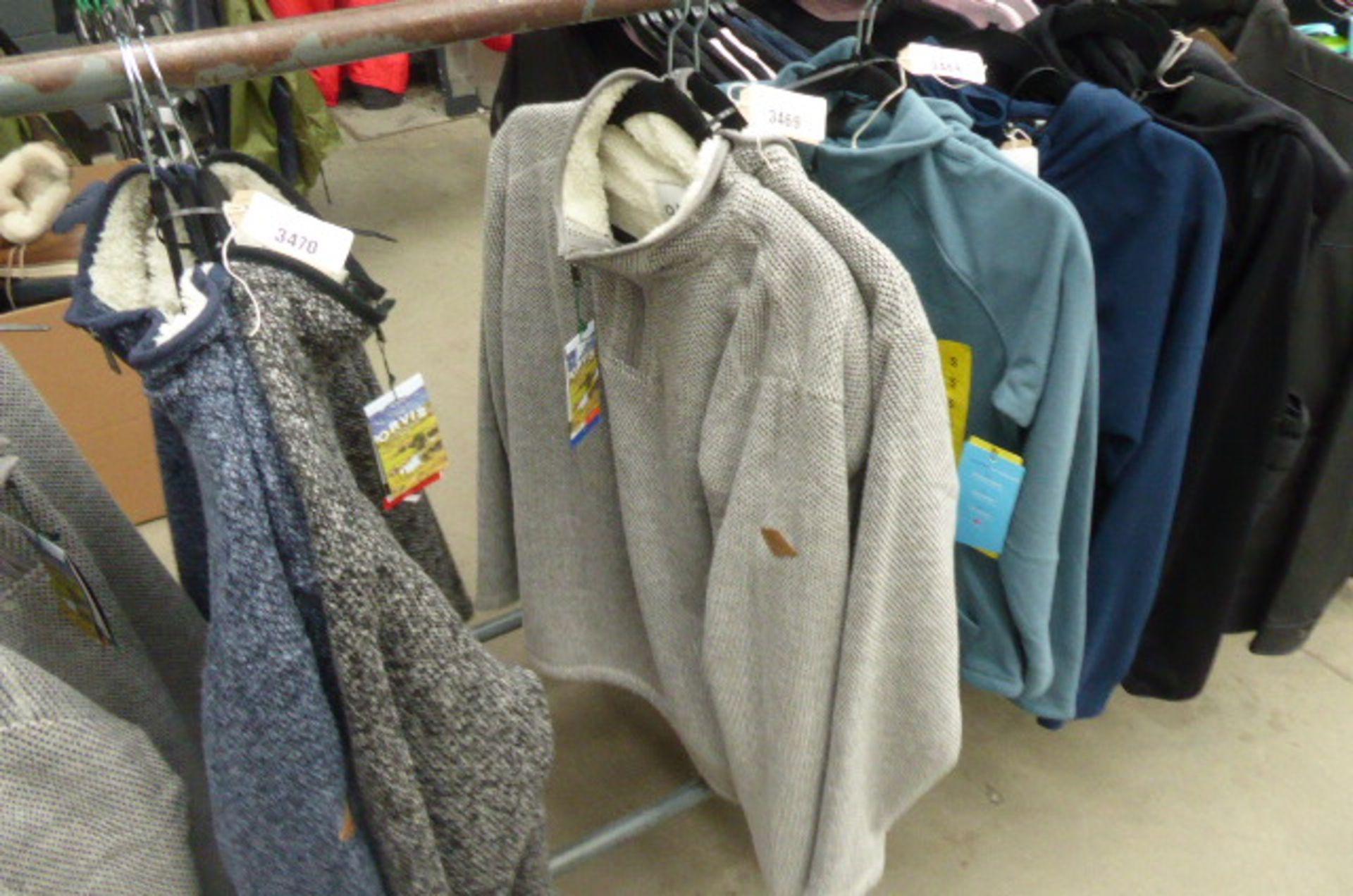 Lot 3469 - Two mens Orvis quarter length fleeces, size XL & L