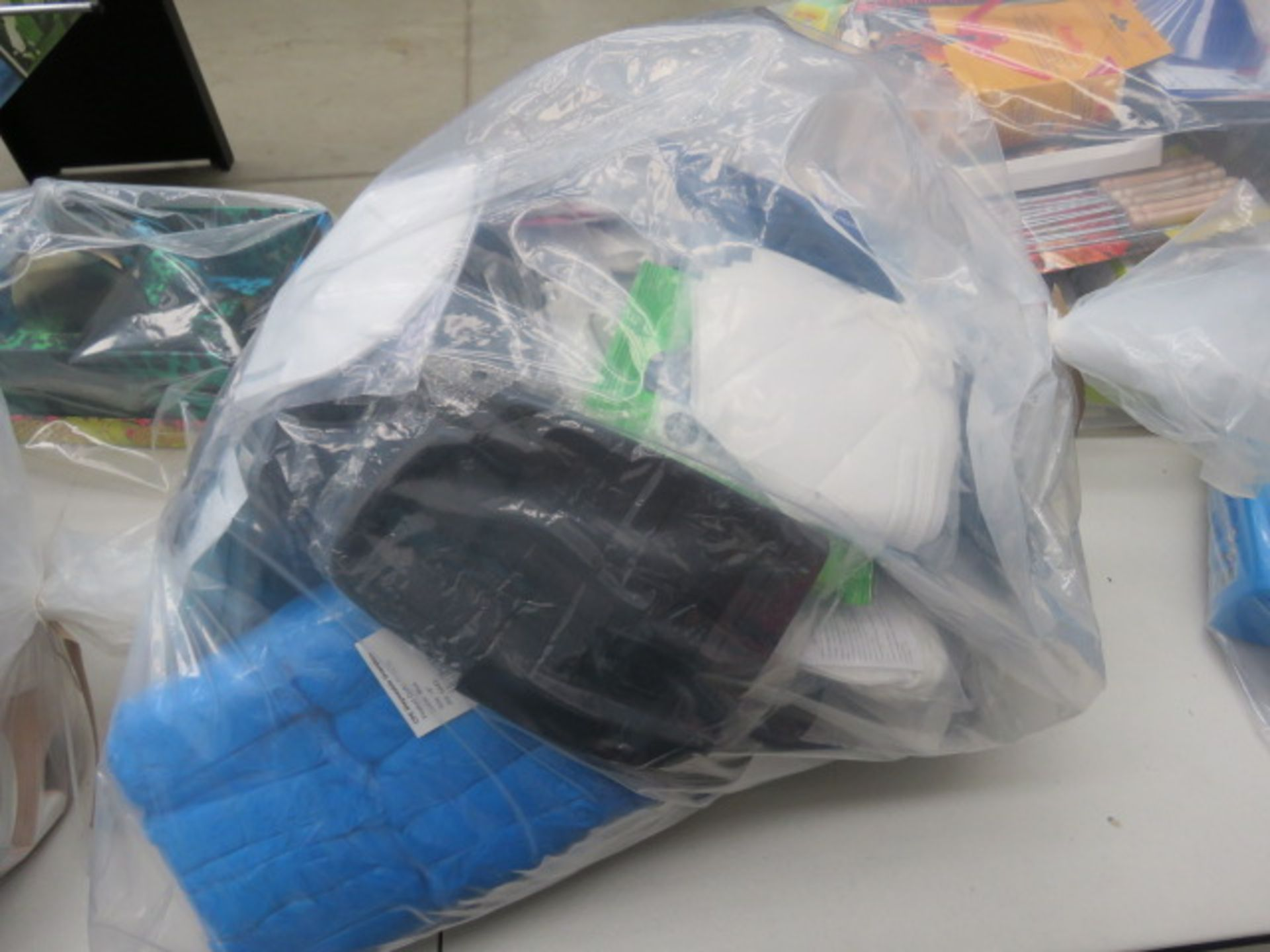 Lot 3570 - 3686 Quantity of personal protection face masks, ear savers for face masks, disposable aprons,