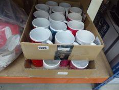 2 trays containing quantity of mugs