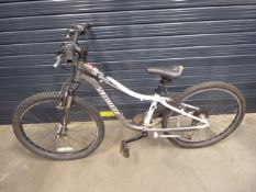 Grey specialised child's bike