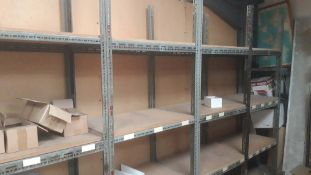Approx. 33 bays of assorted size bolted storage racks by Erecto and Handy (This lot is being sold in