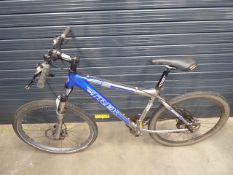 Trek silver and blue gents mountain bike