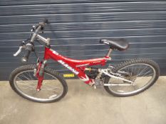Red Magna childs suspension mountain bike