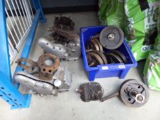 2 Royal Enfield motorcycle engines and a quantity of parts