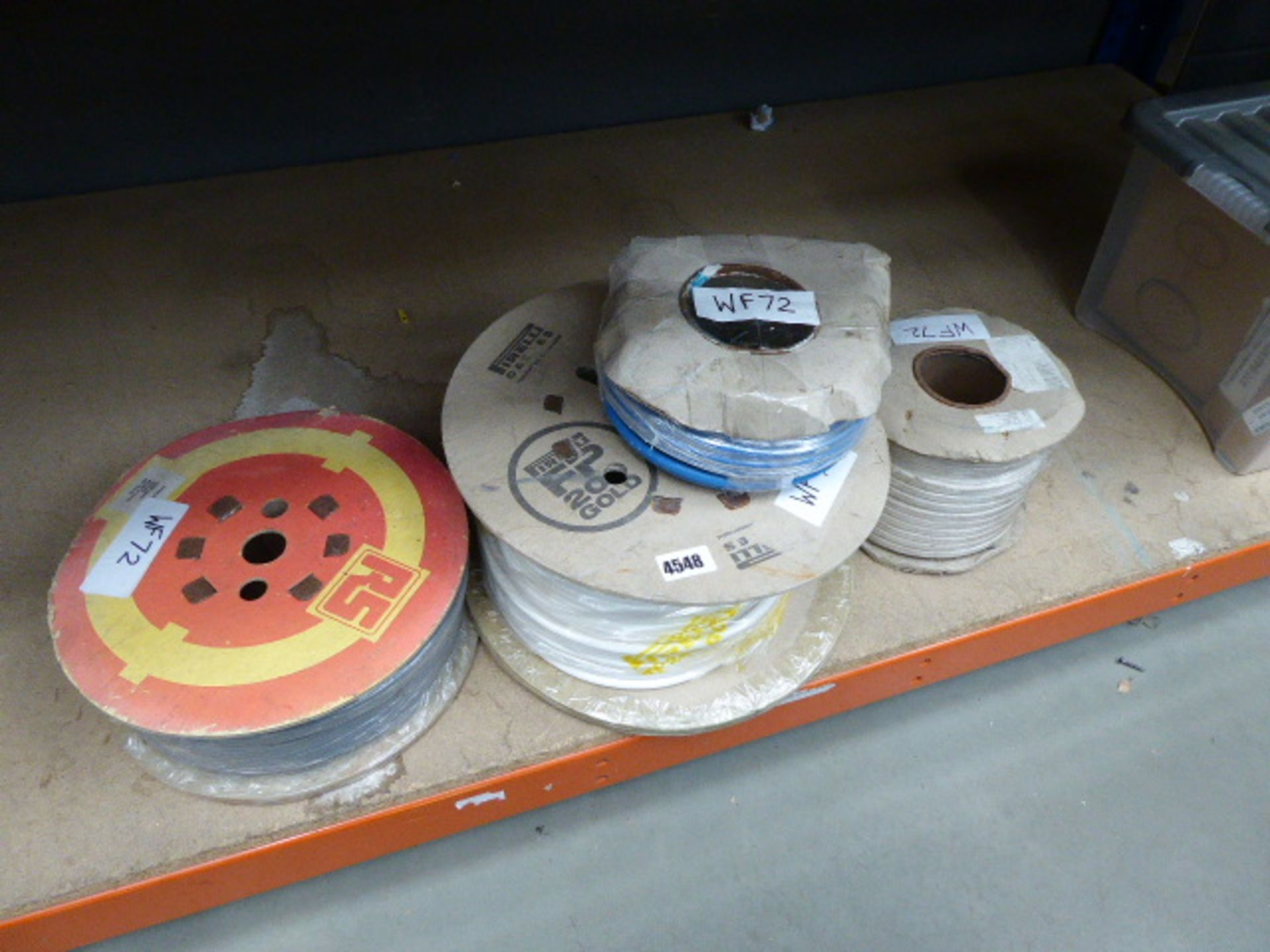 Lot 4548 - 4 reels of electrical cabble