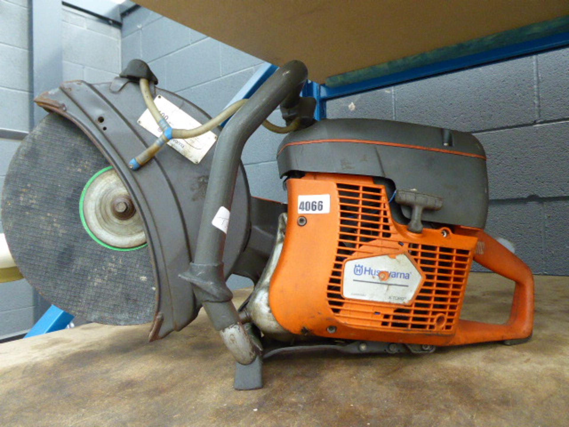 Lot 4066 - Husqvana 12'' petrol powered disc cutter