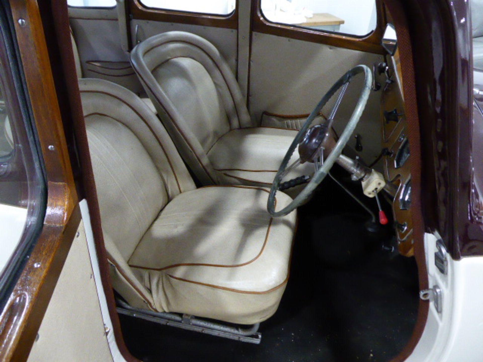 Lot 4002 - LXC 946 1951 MG YA 4 door saloon in maroon The car has undergone a complete 'bare metal'
