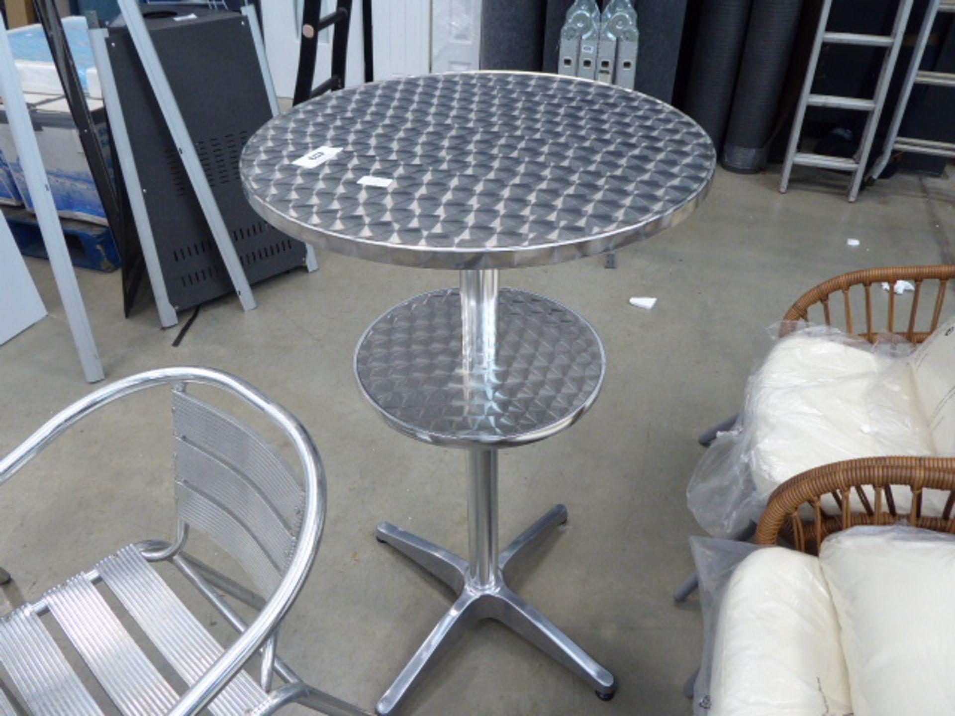 Lot 4173 - Tall silver bar table