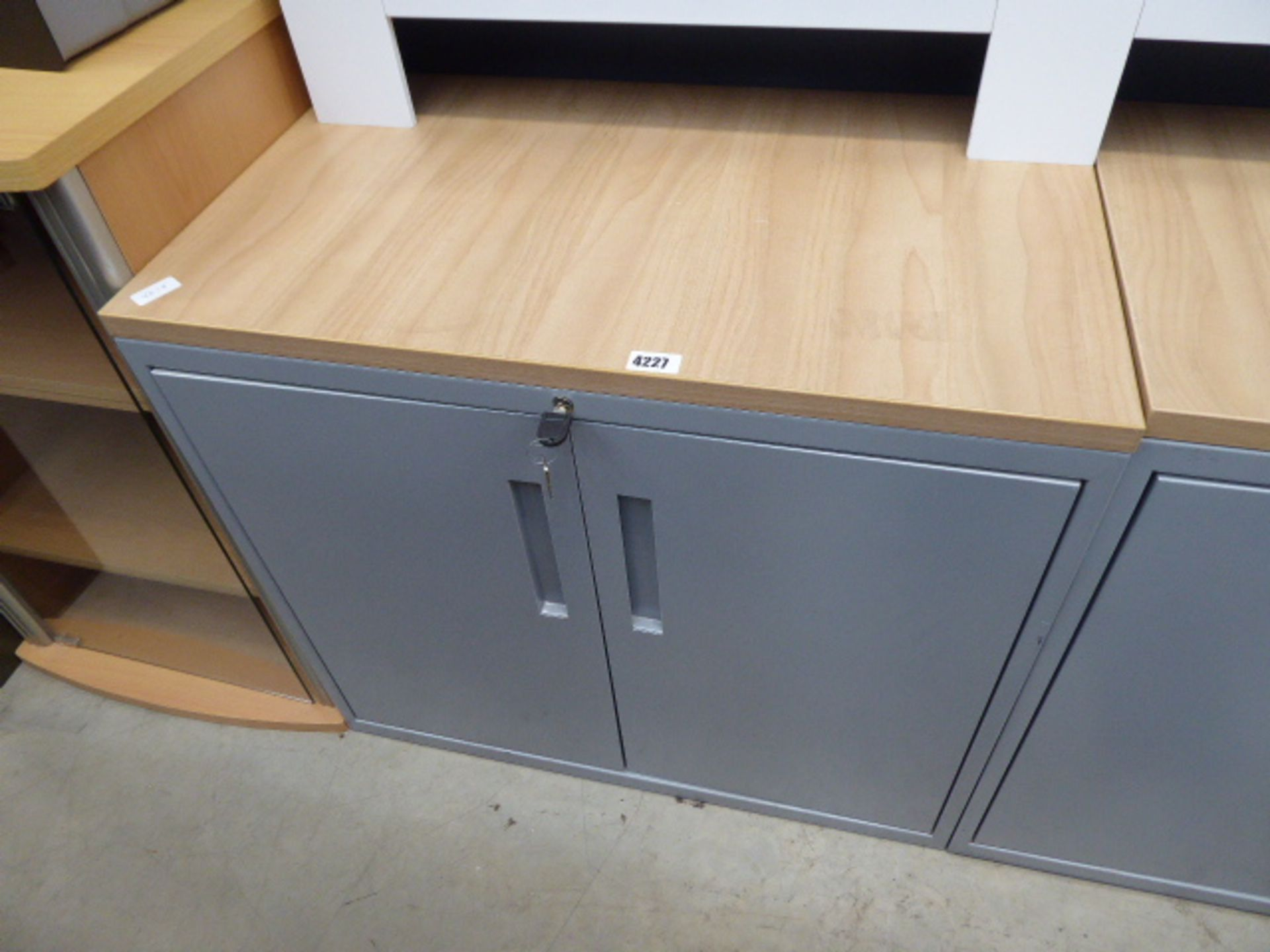 Lot 4227 - Small grey 2 door cabinet