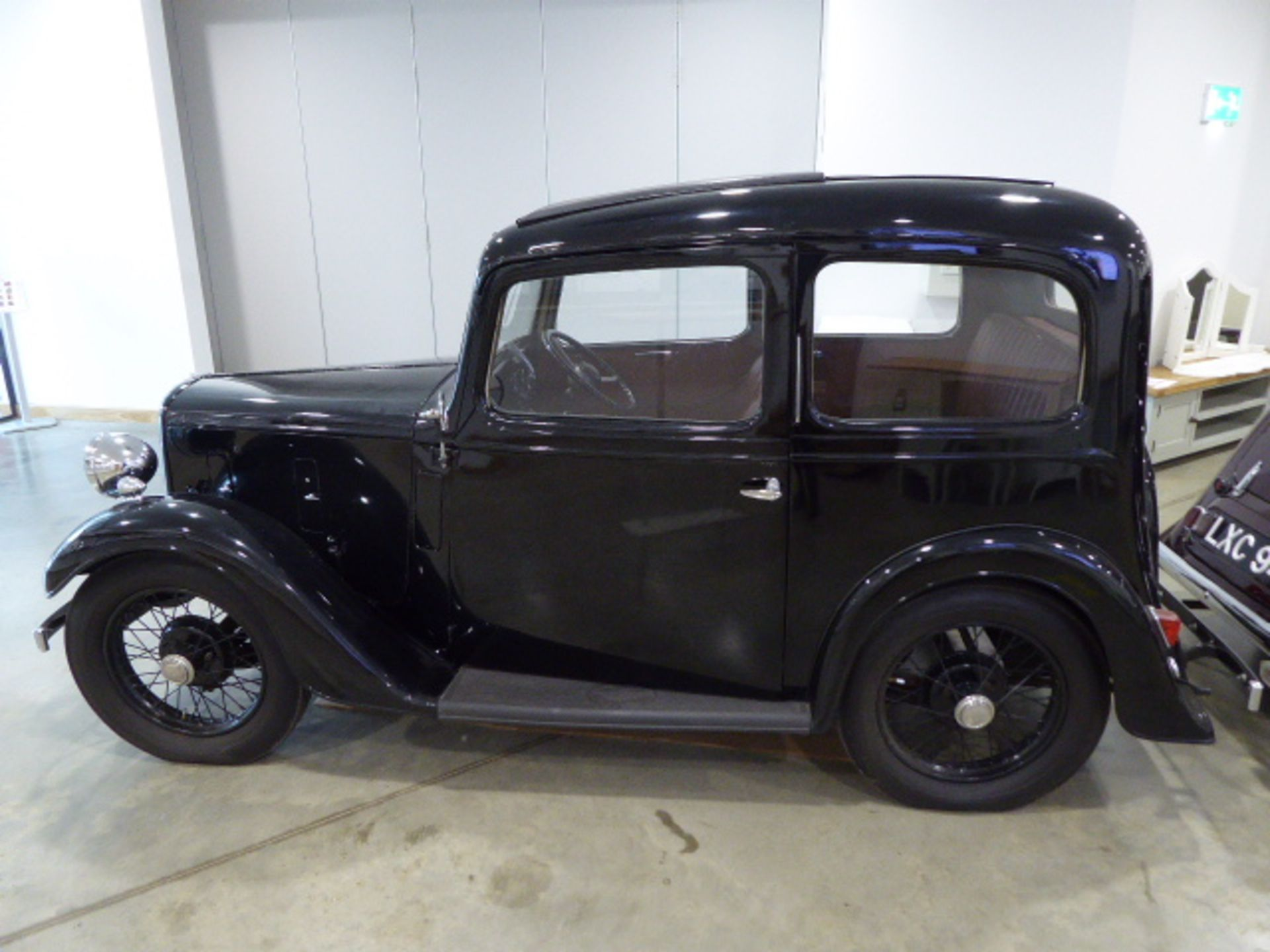 Lot 4001 - DMB 485 1936 Austin Seven Ruby 2 door saloon in black This car has undergone a complete 'bare metal'