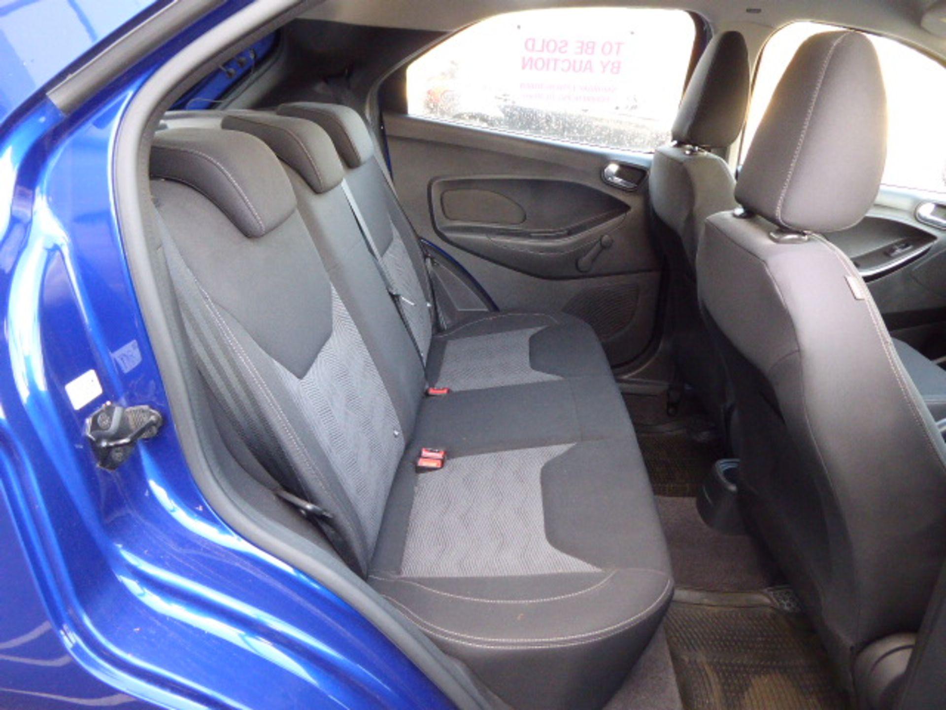 Lot 4004 - KM66 USG (2016) Ford KA + Zetec, 1198cc petrol 5 door hatchback in blue MOT: 31/10/20