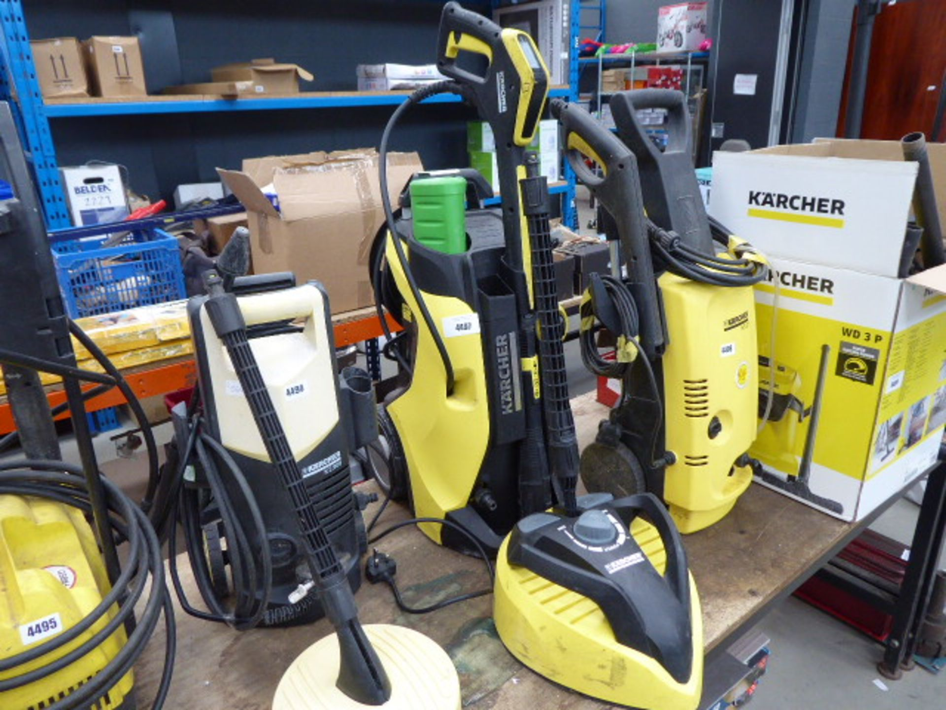 Lot 4497 - 4434 Karcher K7 full control electric pressure washer with patio cleaning head
