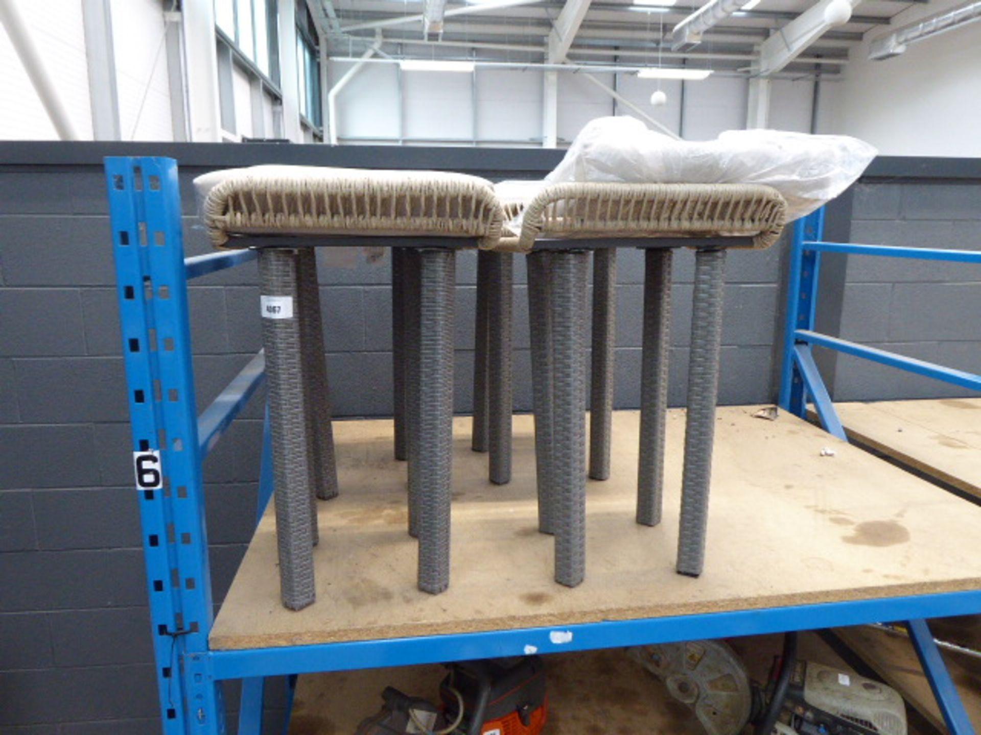 Lot 4067 - 4048 4 rattan style bar stools