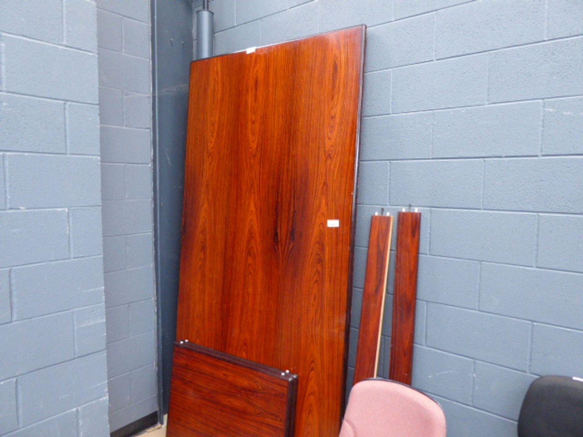 Lot 4271 - Large flatpack boardroom table in dark wood