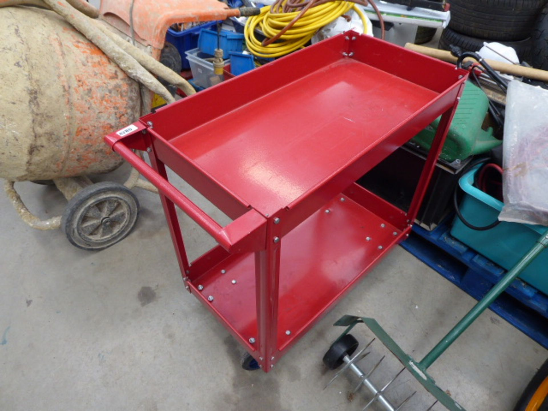 Lot 4286 - Red 4 wheeled trolley