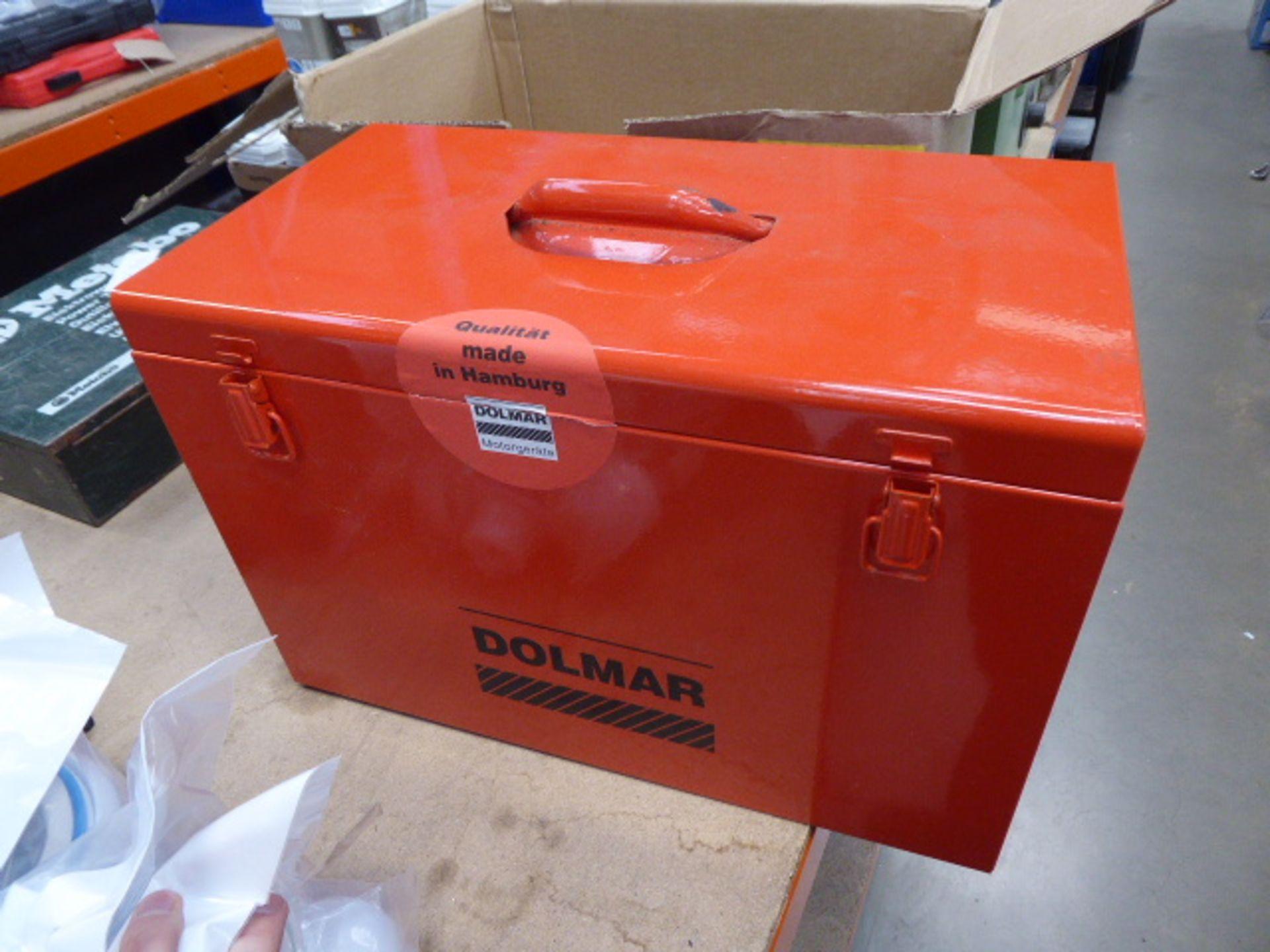 Lot 4527 - 4395 Orange metal tin