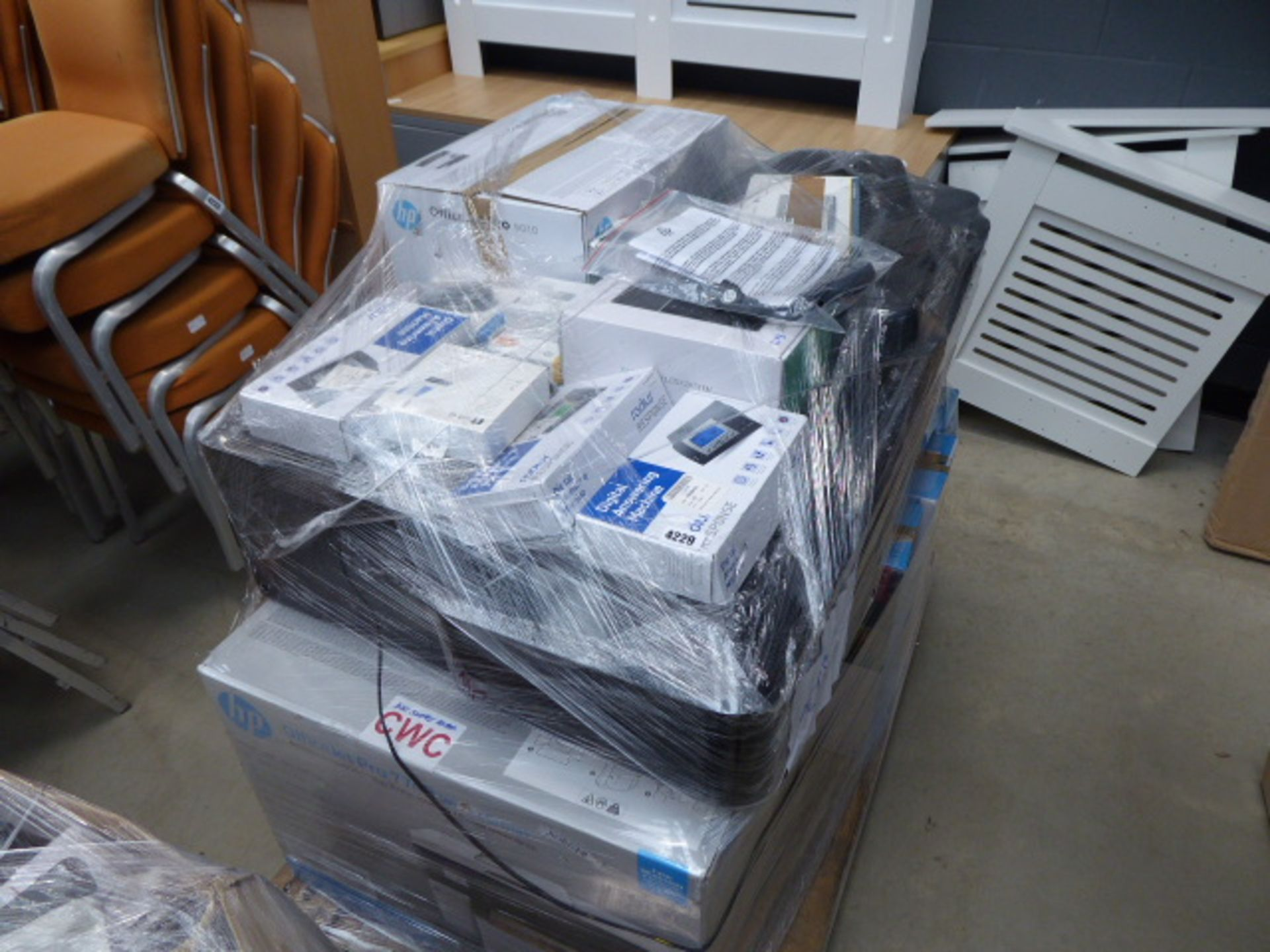 Lot 4229 - Pallet of answering machines, faxes, printers etc