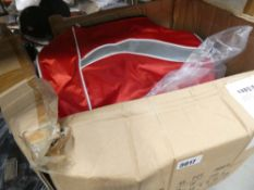 2 boxes containing mixed bags and gliders