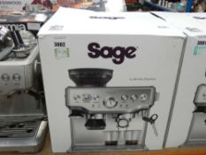 86 Boxed Sage Barister Express coffee machine