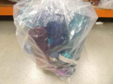3018 Large bag containing mixed drinking bottles