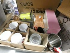 Tray containing Me to You bear mug gift sets, ceramic biscuit jars, etc