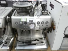 87 Boxed Sage Barister Express coffee machine, unboxed with 2 attachments