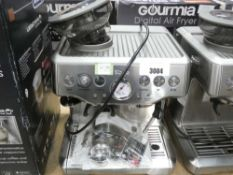 88 Boxed Sage Barister Express coffee machine, unboxed with one attachment
