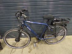 Vitesse Motion electric bike in blue with battery and charger